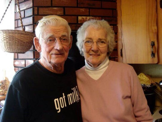 Nathan J. 'Mickey' Donnelly Jr. and his wife, Carolyn.