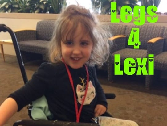 """Alexis """"Lexi"""" Winslow, a local 4-year-old with Cerebral"""