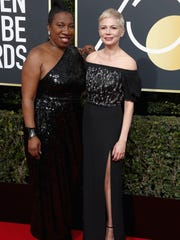Actress Michelle Williams, right, brought activist