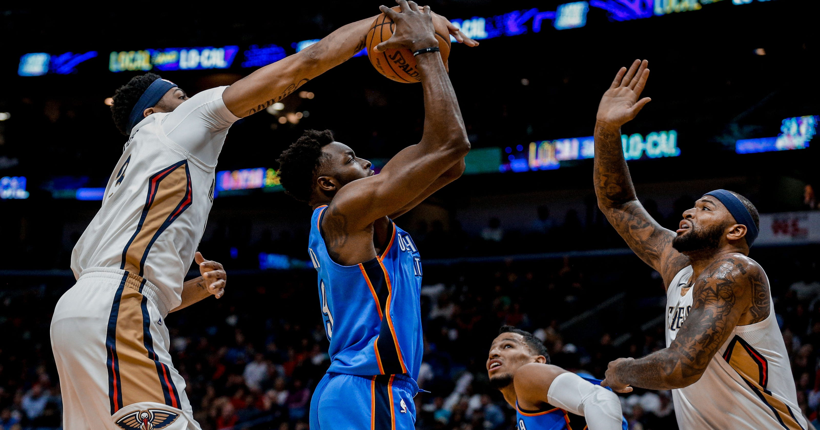 3361b1e72 DeMarcus Cousins ejected as Pelicans rally to beat Thunder