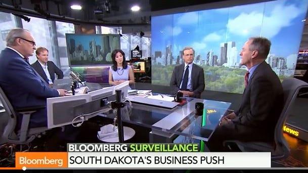 Gov. Dennis Daugaard on Bloomberg TV Thursday.