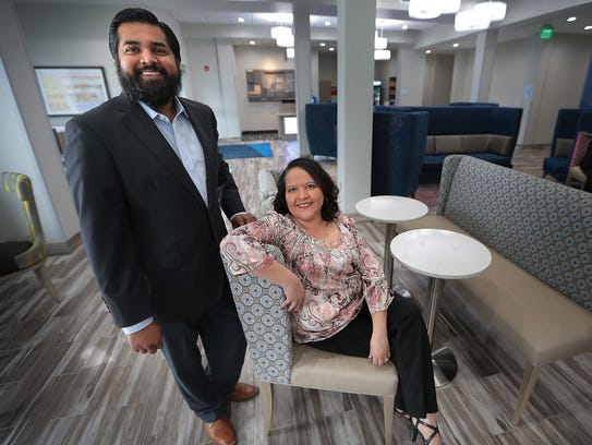 Sam Patel, owner/operator of the new Holiday Inn Express on Elvis Presley Blvd., and Hotel Manager Amber Brown employ mostly local residents from Whitehaven, bringing a much needed economic boost to the area that has been on a commercial roller coaster lately.