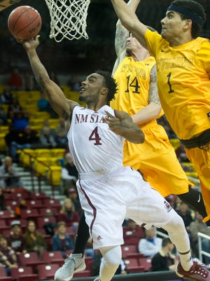 Ian Baker and the New Mexico State Aggies face Arizona Christian Wednesday night at the Pan American Center.