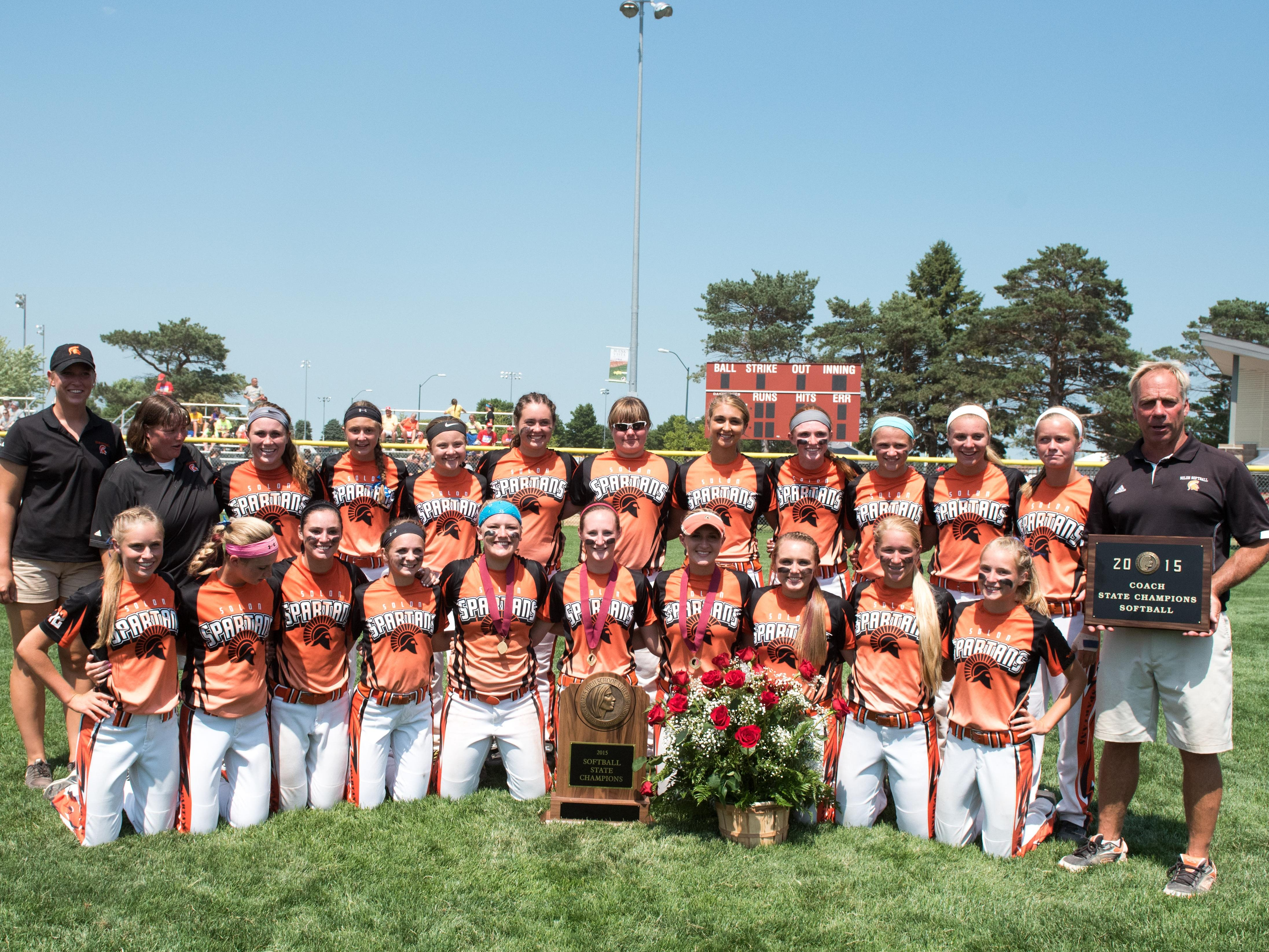 Solon captured the Class 3-A state softball title on Friday.