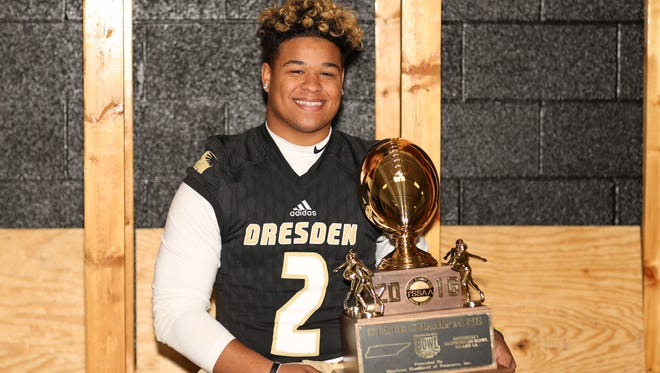 Dresden running back Dylan Yates is a big reason why the Lions won their first state championship in program history in 2016.