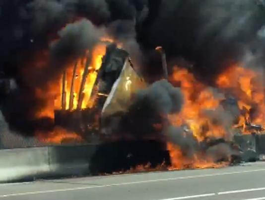 Semitruck fire