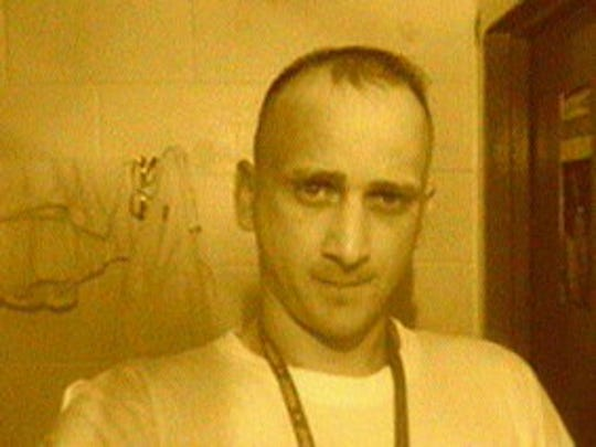 Jodey Waldrop, 36, was murdered on June 3 by another inmate at St. Clair Correctional Facility. He sent this photo to his girlfriend, Angela Bennett, from his cell phone the night he was killed.