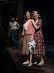 """Ryan Imhoff, Kelsey Brennan (center) and Hollis Resnik comprise a troubled family in """"The Glass Menagerie."""""""