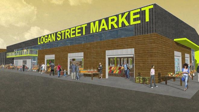 Rendering of Logan Street Market.