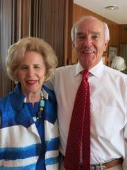 Virginia and Merritt Chastain at Bette Irish party.