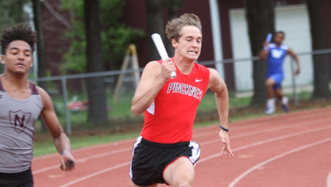 Pinckney's Nick Cain ran on three relay teams in the state Division 1 track and field meet.