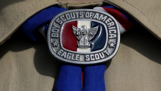 A detailed view of a Boy Scout uniform on February 4, 2013 in Irving, Texas.