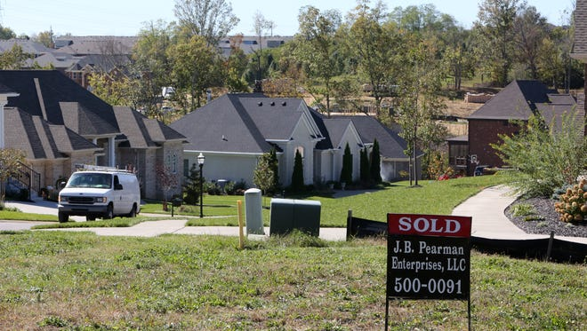 A sold lot in the Landis Springs subdivision.October 16, 2015