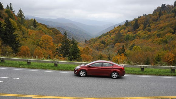 A woman was killed Aug. 26 on the Foothills Parkway in the Great Smoky Mountains National Park. This is a scene from the park in a previous fall.