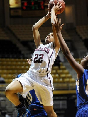 Montgomery Academy guard Kayla White scored a team-high 12 points in Tuesday's 51-43 win over Aliceville in the AHSAA Class 3A Central Regional at Alabama State's Acadome.