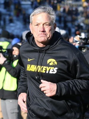 Iowa coach Kirk Ferentz has been at the helm of the Hawkeyes for 17 seasons, rebuffing occasional interest from the NFL and other college programs.