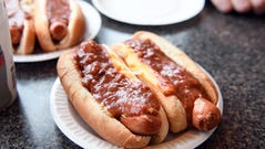 Chili cheese hotdogs at The New Corral in Clifton,