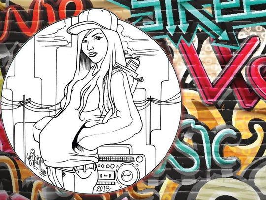 "Poster art for Rising Youth Theatre's ""antonia: a chicana hip hop Antigone."""