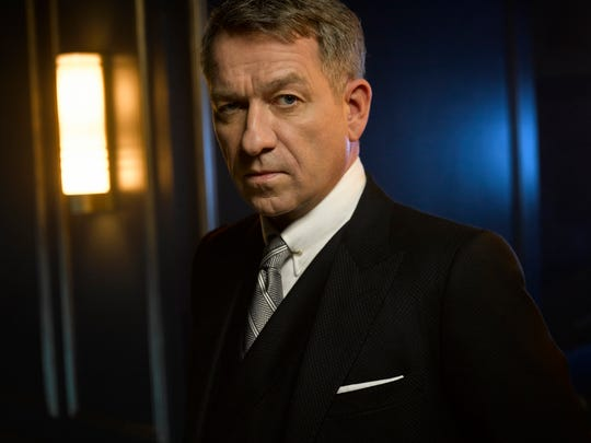 "Sean Pertwee as Alfred Pennyworth in Season Two of ""Gotham."""