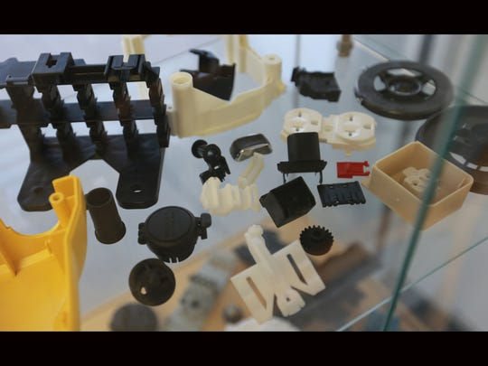 These are some of the plastic components made at the Plastic Molding Technology plant in East El Paso. About 85 percent of PMT's components are exported, mostly to assembly plants in Juárez and other areas of Mexico.