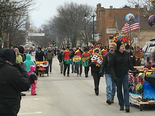 The Grand Parade highlights the Cedarburg Winter Festival in Ozaukee County.