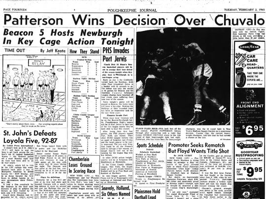 The Feb. 2, 1965 edition of the Poughkeepsie Journal