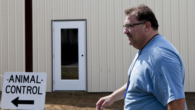 Gloucester County Animal Shelter Director Bill Lombardi walks past a discount spay/neuter clinic under construction in 2014 at Gloucester County Animal Shelter in Clayton.