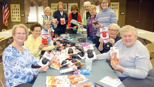 "The Woman's Club of Vineland hosted the New Jersey State Federation of Women Clubs' Day of Service ""Going to the Dogs"" for the Southern District on Feb. 10. Club members collected items for military dogs and Canine Companions for Independence. Club members were joined by (front left) Mary Ellen Cropper, Southern District Vice President, and (front right) Ora Kokal, Day of Service Chairman, New Jersey State Federation of Womens Clubs."