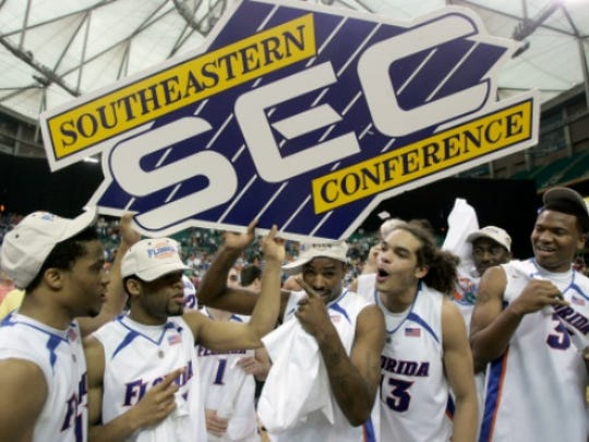 The Florida Gators won their third SEC championship against Arkansas 77-56.