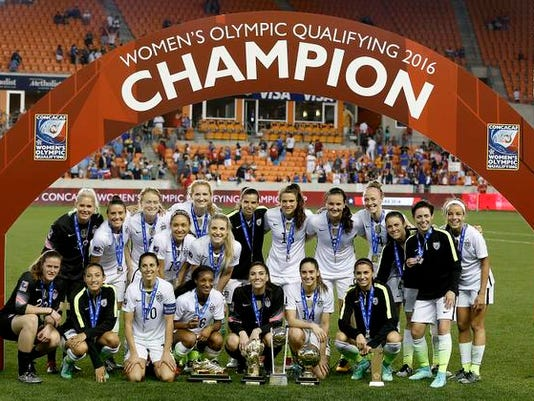 Soccer: 2016 CONCACAF Women's Olympic Qualifying - Finals-Canada at USA