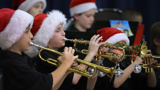 Senate Bill 326 would create guidelines so educators can feel more comfortable honoring Christmastime traditions, such as this Christmas concert at Franklin Township Middle School West.