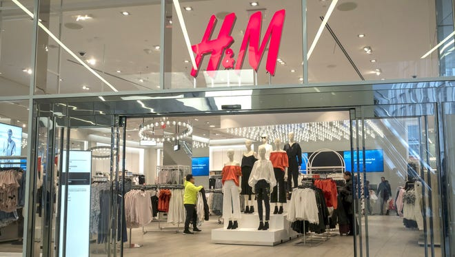 The H&M store in the Westfield Mall in Lower Manhattan in New York is seen on Tuesday, March 27, 2018.