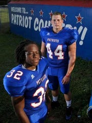 Anthony Johnson Jr., front, and Brice Peaden will look to make plays on offense for Pace on Friday night.
