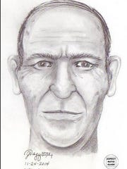 A re-creation sketch of a John Doe found in Oregon