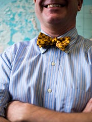 Geologist Dr. Harold Connolly sports a bowtie at Rowan University.