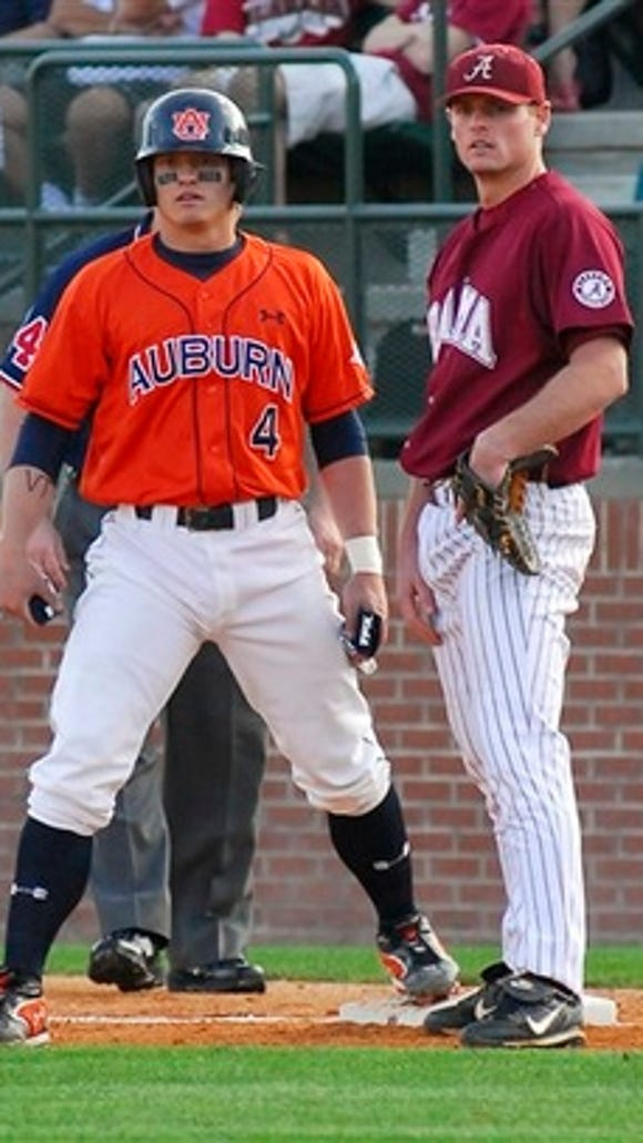 Former Auburn player Josh Donaldson, who was named American League MVP Thursday, hit .307 in 158 games with 28 home runs and 122 RBI in three seasons with the Tigers.