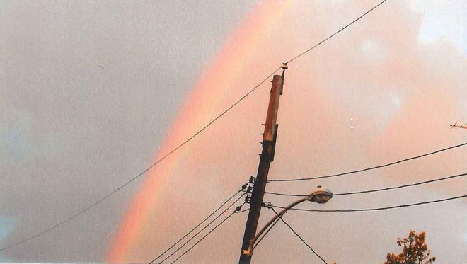 Cindy Clapsaddle of Hanover took this photo of a rainbow around 7 p.m. on Sunday, Aug. 14, on Second Avenue in Hanover.