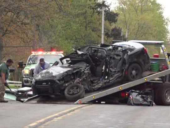 Officer Jon Ginka was killed in a single-car crash.