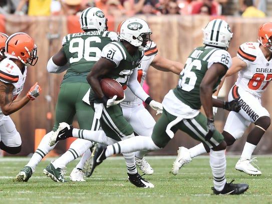 Oct 8, 2017; Cleveland, OH, USA; New York Jets cornerback