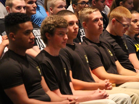 Graduating high school students entering the armed forces were honored during the First to Say Thank You ceremony on June 20 at Windsor Central High School.