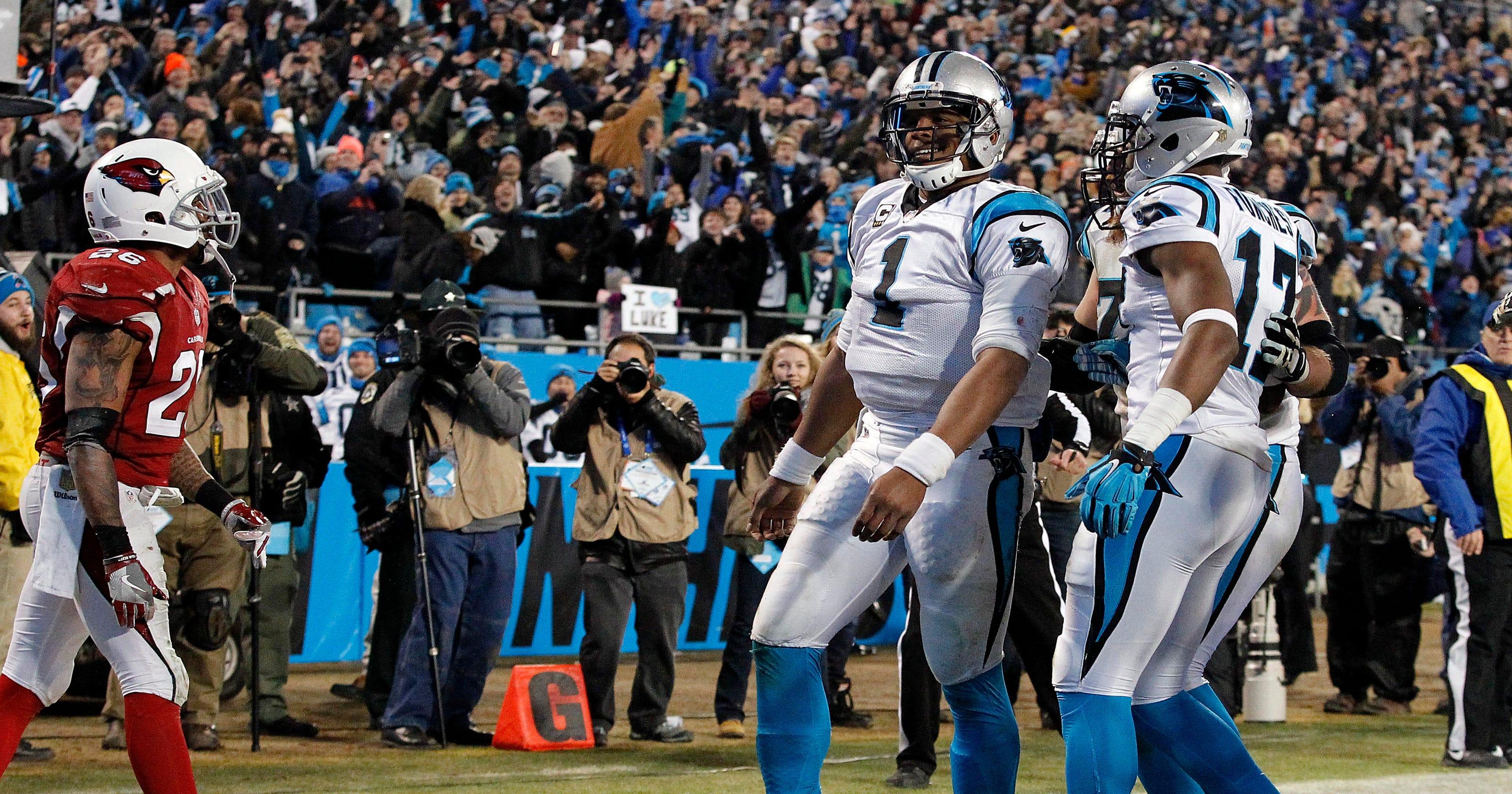 8fe0172c Panthers pummel Cardinals, set Super Bowl 50 matchup with Broncos