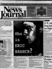 Front page of the Pensacola News Journal on Jan. 17, 1993