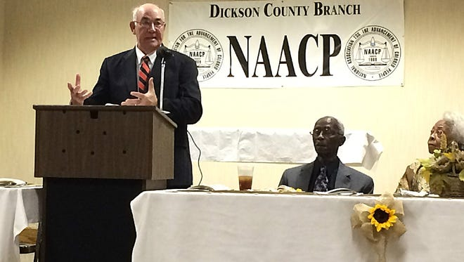 David Shepard is the speaker at the Dickson County NAACP's Annual Freedom Fundraising Banquet on Monday night at the Tennsco Community Center.