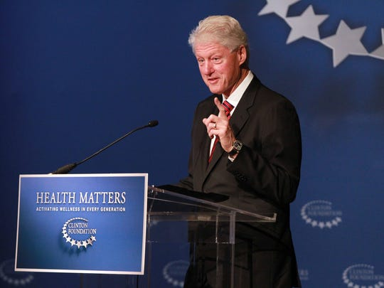 Former President Bill Clinton offers opening remarks on Tuesday, January 17, 2012 in Indian Wells, Calif. at the Health Matters: Activating Wellness in Every Generation conference hosted by The Clinton Foundation.