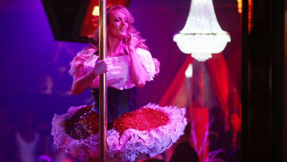 Stormy Daniels performs March 9, 2018, in Pompano Beach,