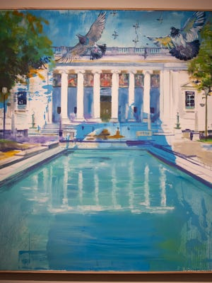 """This painting by Bruce Garrity will be shown in """"Picturing Camden,"""" an exhibition at Rutgers–Camden's Stedman Gallery through Dec. 8."""