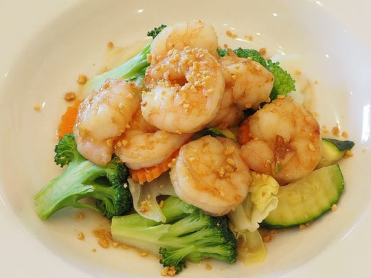 You can add shrimp to your dish at Jasmine Thai Cuisine