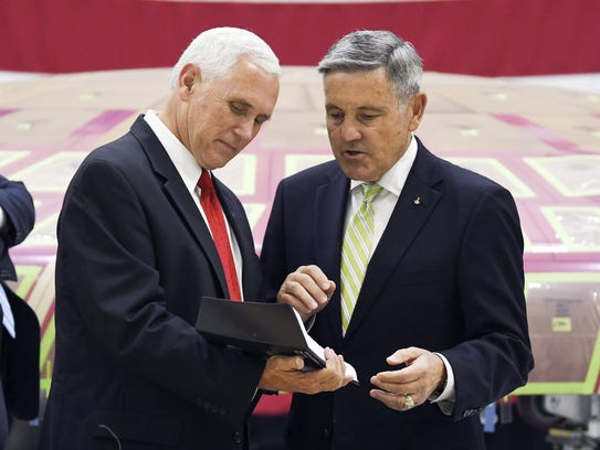 Vice President Mike Pence tours the Operations and
