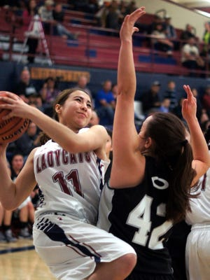 Senior Lady Cat wing Becky Cortina (11) was instant offense last season. She will be counted for a more complete game when the Lady Wildcat Basketball Team opens the season Friday at Santa Teresa High School. Tip off is at 7 p.m.
