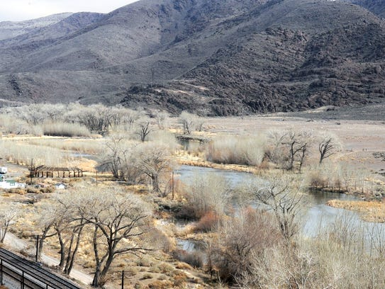 The Truckee River at McCarran Ranch east of Reno on